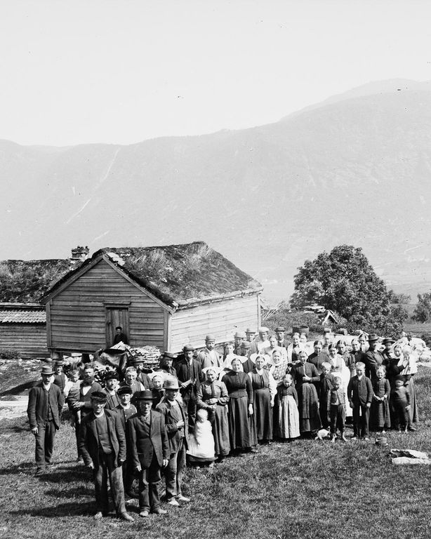 Люди Согндала 1900 Норвегия 28