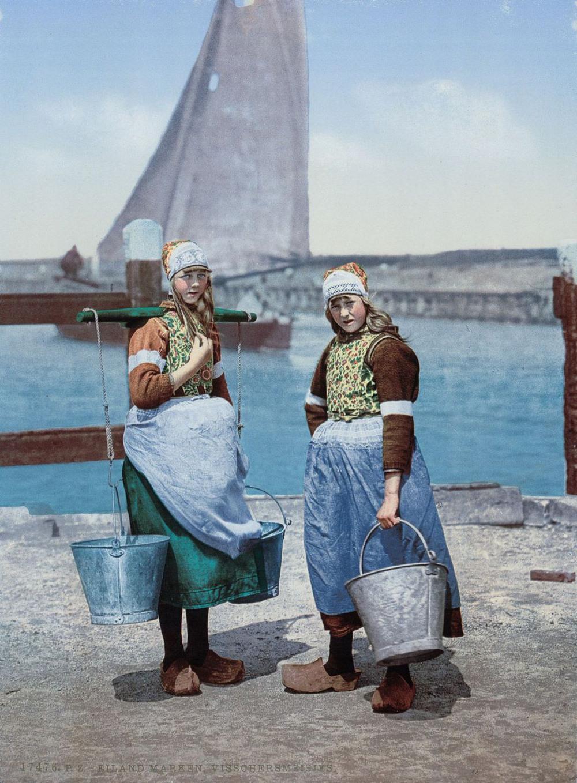 Цветные открытки Нидерландов 1890-х годов 1