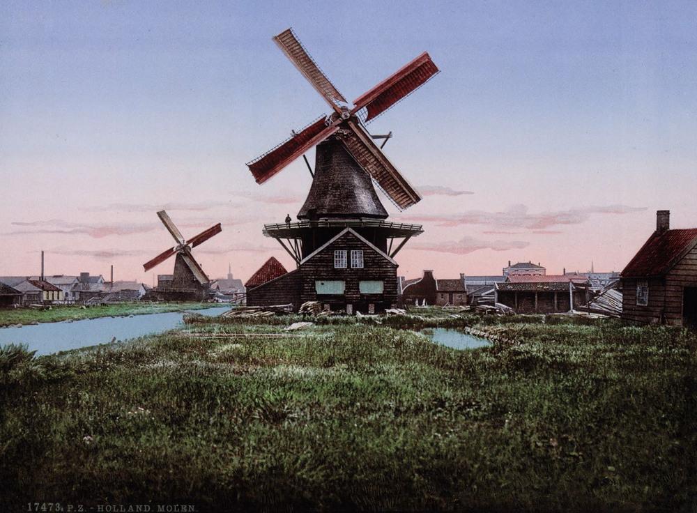 Цветные открытки Нидерландов 1890-х годов 2