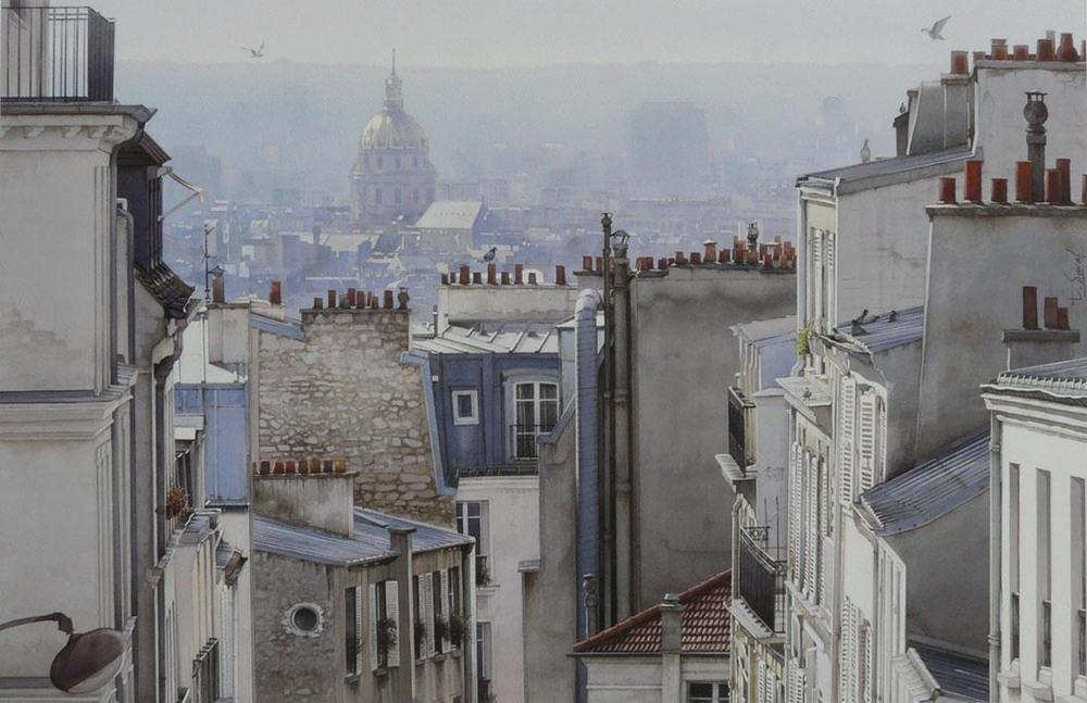 Акварельные картины Тьерри Дюваля 4