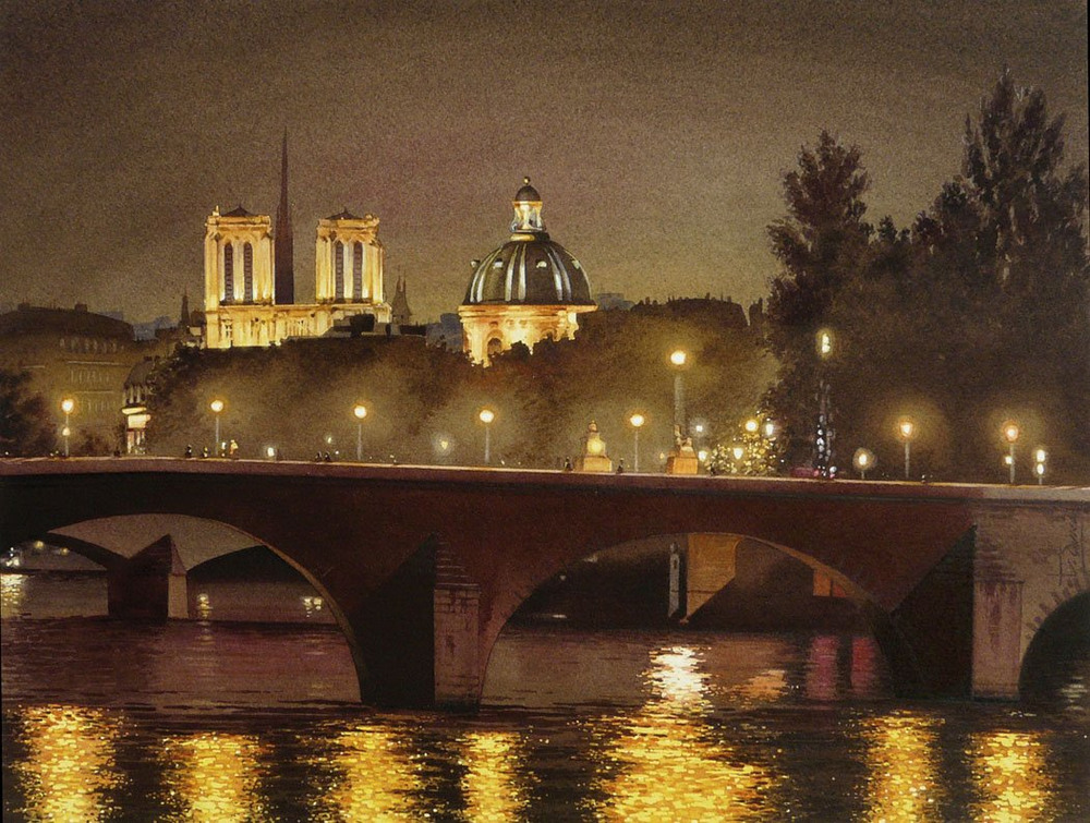 Акварельные картины Тьерри Дюваля 47