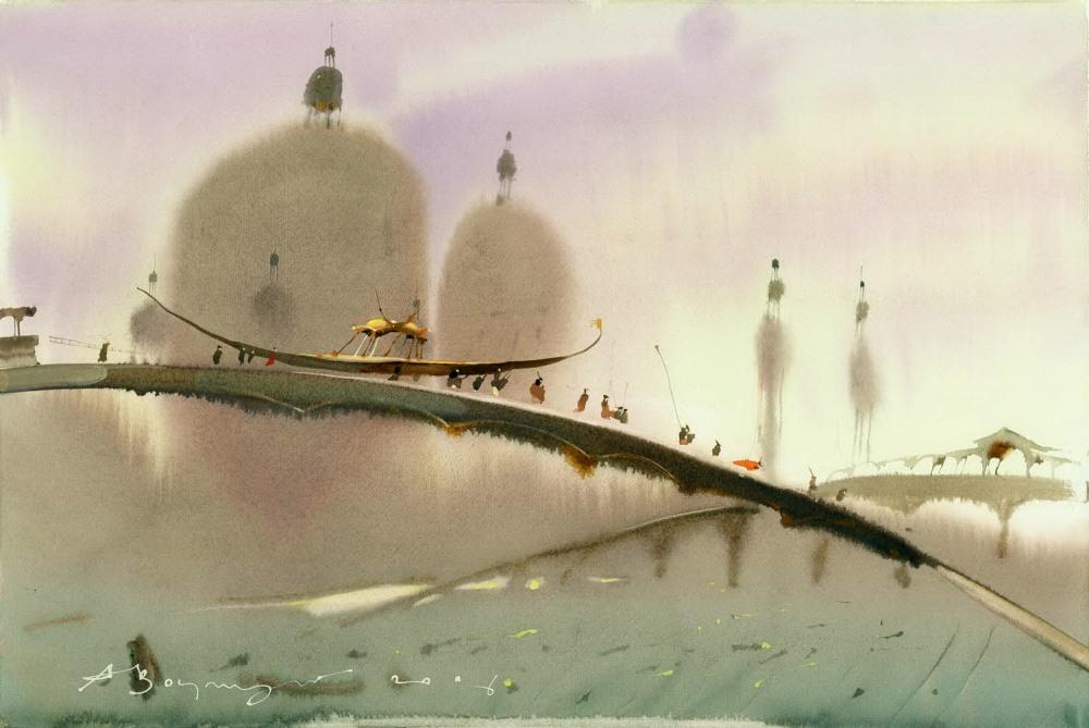 Акварельные картины Аруша Воцмуша 9