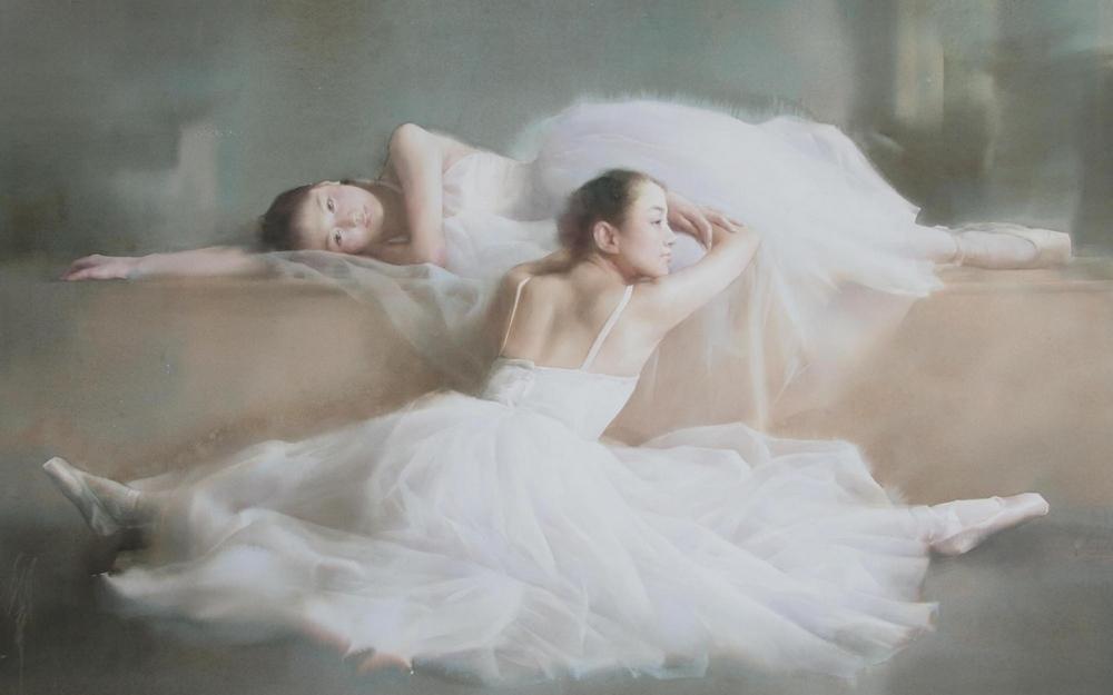 Нежные акварельные картины Лю Йи  23