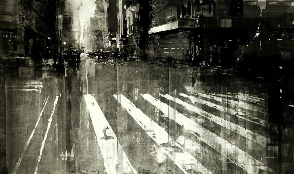 Неспящий город в масляной живописи Джереми Манна 1 1