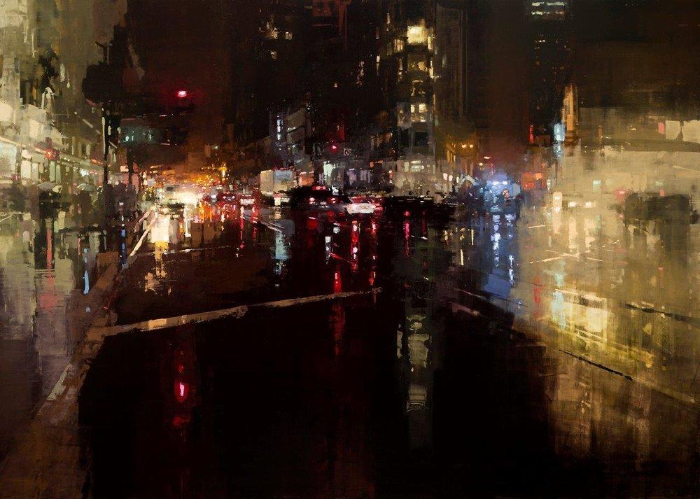 Неспящий город в масляной живописи Джереми Манна 1 4