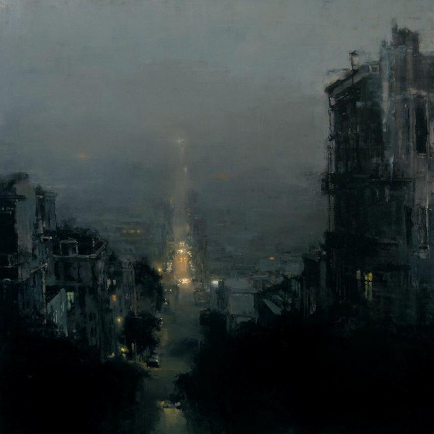 Неспящий город в масляной живописи Джереми Манна 2