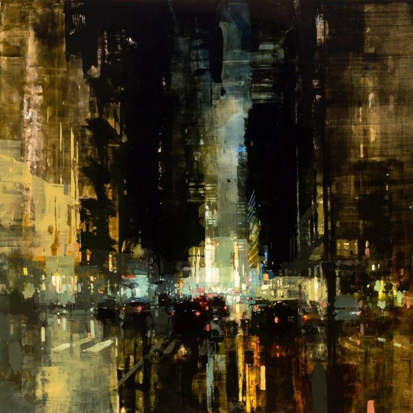 Неспящий город в масляной живописи Джереми Манна 28