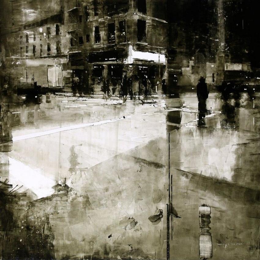 Неспящий город в масляной живописи Джереми Манна 7