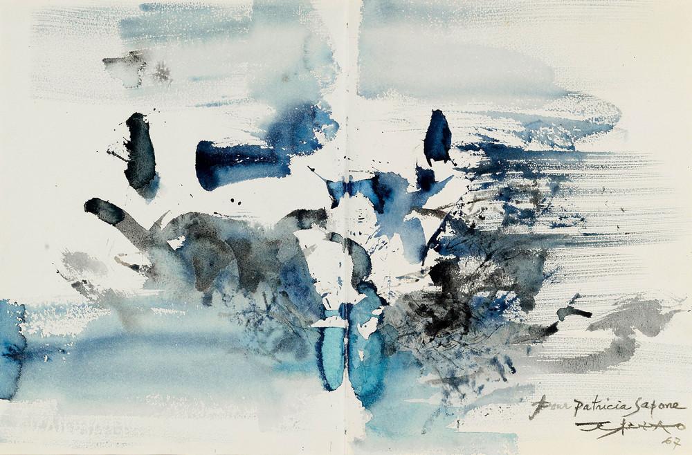 Картины Чжао Уцзи художник Zao Wou-Ki 19