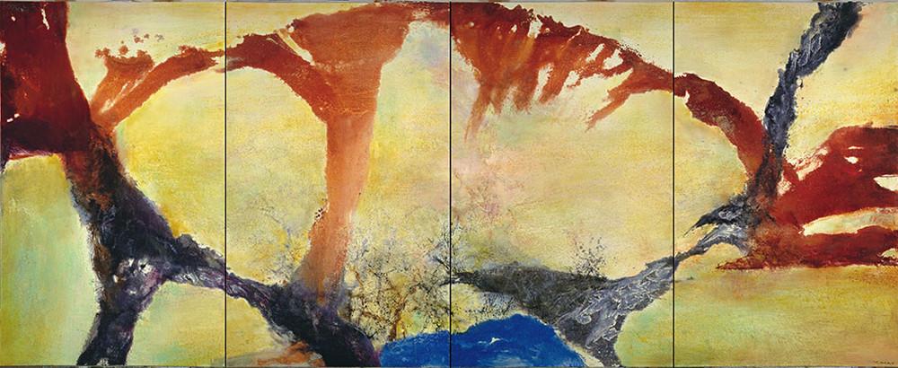 Картины Чжао Уцзи художник Zao Wou-Ki 50