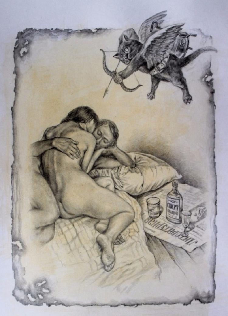 Иллюстрации к мастер и маргарита художники