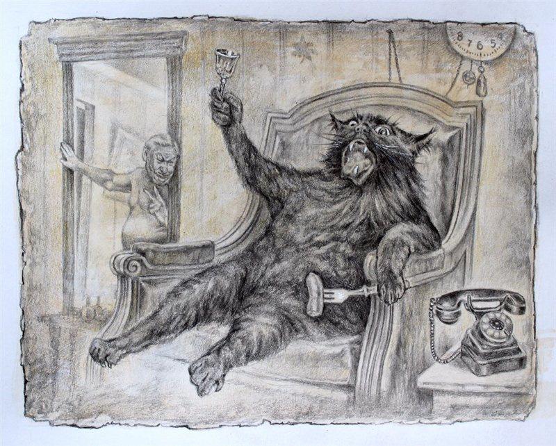Хлёсткие иллюстрации к «Мастеру и Маргарите» от художника Александра Ботвинова  4