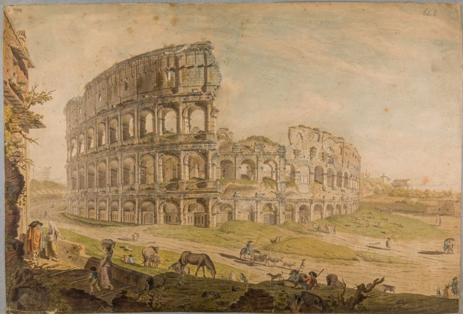 Как выглядел Рим с 16-го по 20-го век. Вечный город в 4000 изображений в открытом доступе  4