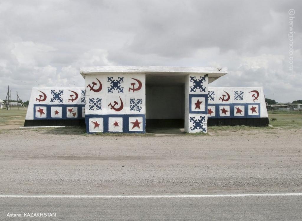 Советские автобусные остановки в фотографиях Кристофера Хервига 29