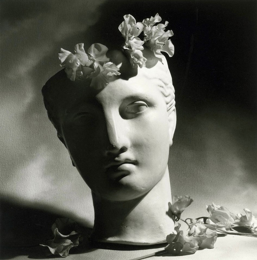 Classical Head With Flowers 1988