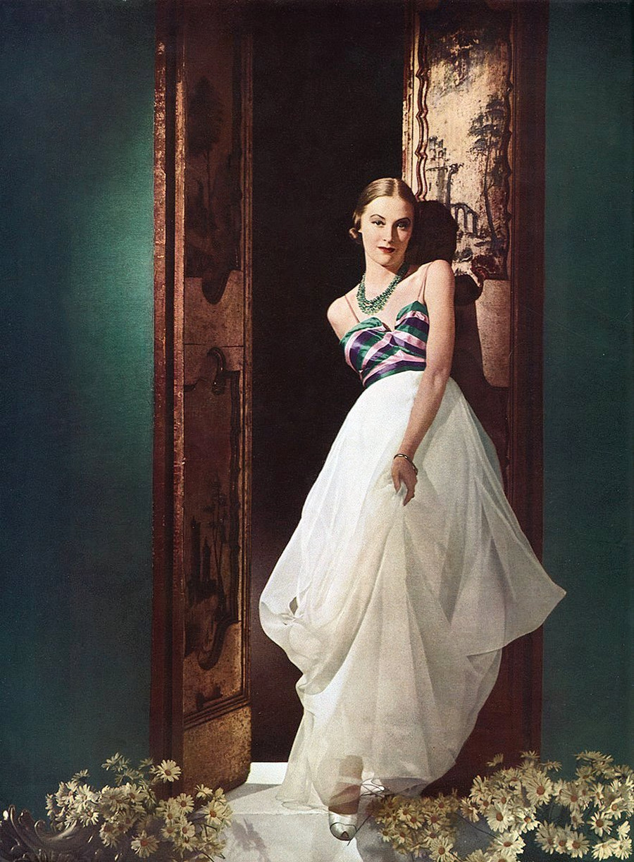 Model in a Charles James gown 1937