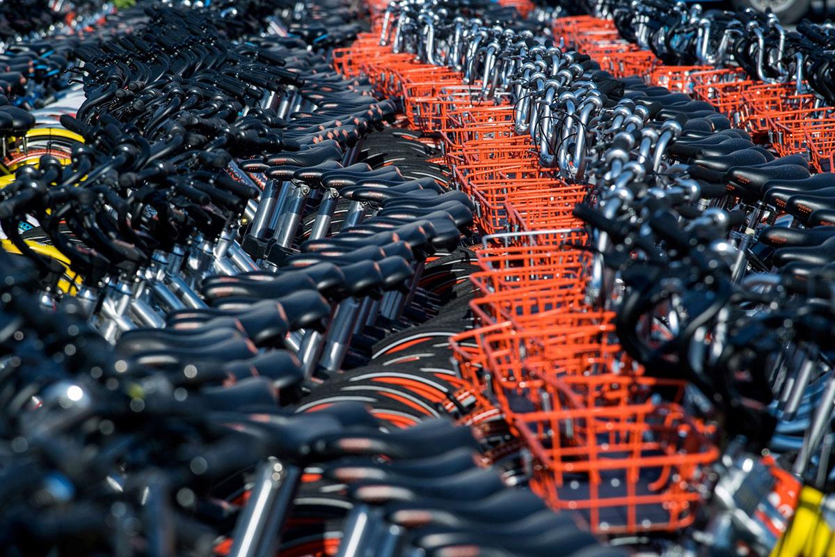 Велопрокат в Китае. Фоторепортаж 25