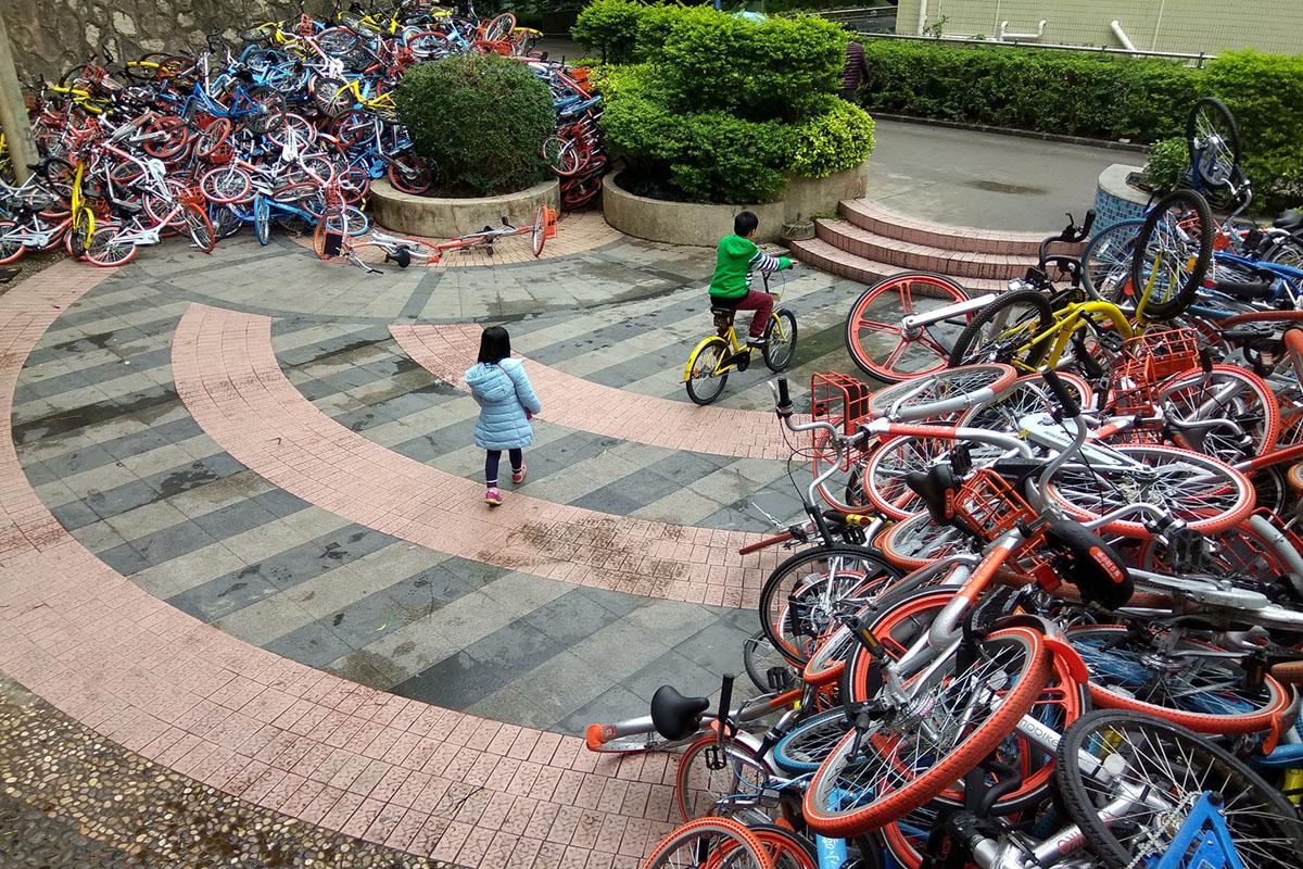 Велопрокат в Китае. Фоторепортаж 27