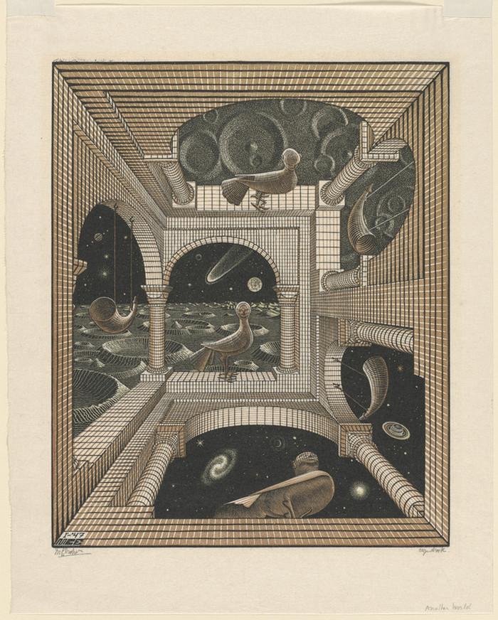 Оптические иллюзии  Маурица Эшера 13