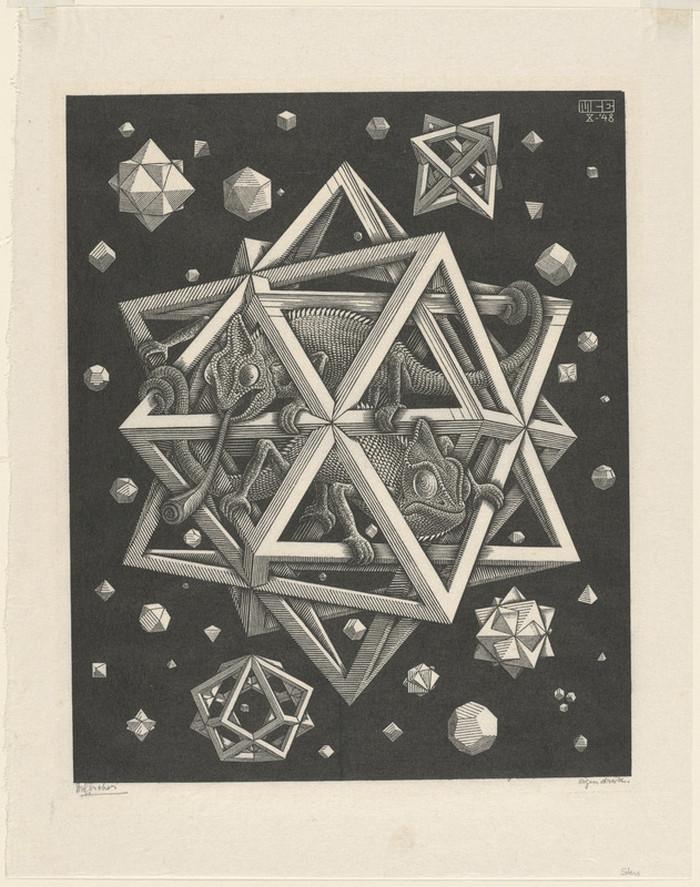 Оптические иллюзии  Маурица Эшера 16