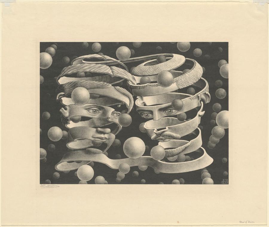 Оптические иллюзии  Маурица Эшера 3
