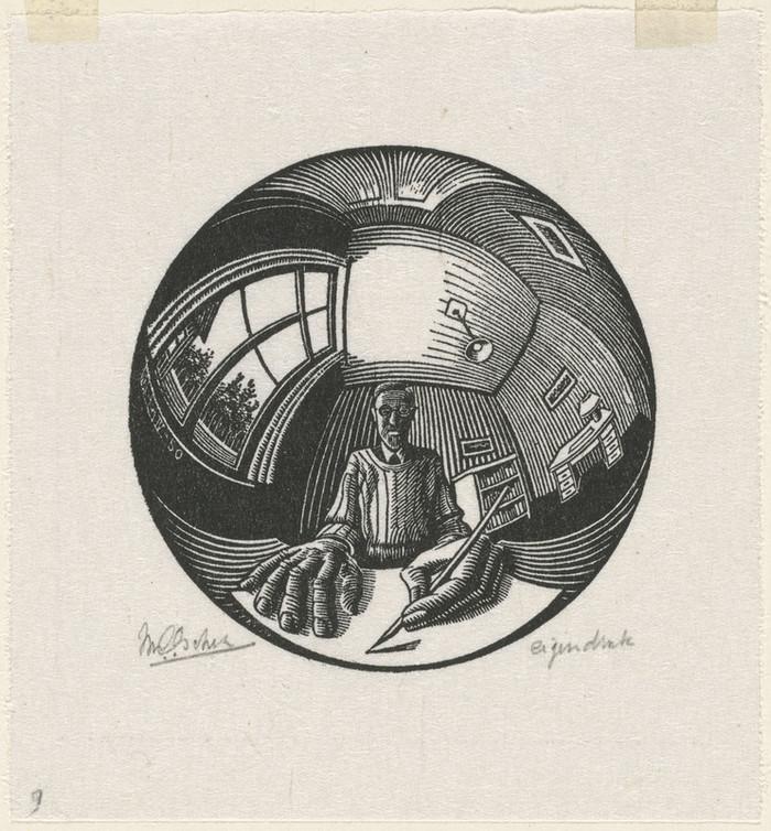 Оптические иллюзии  Маурица Эшера 9