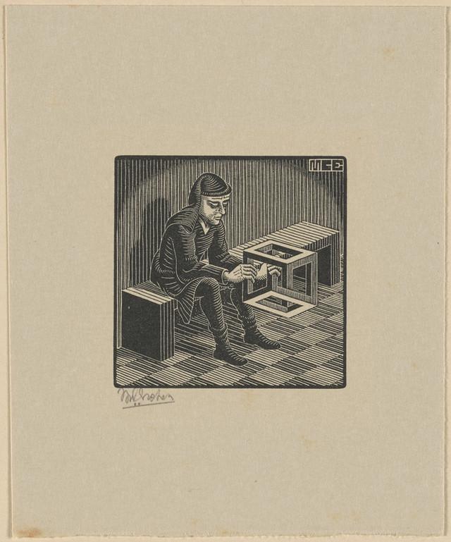 Онлайн-архив: оптические иллюзии и невозможные гравюры Маурица Эшера 11