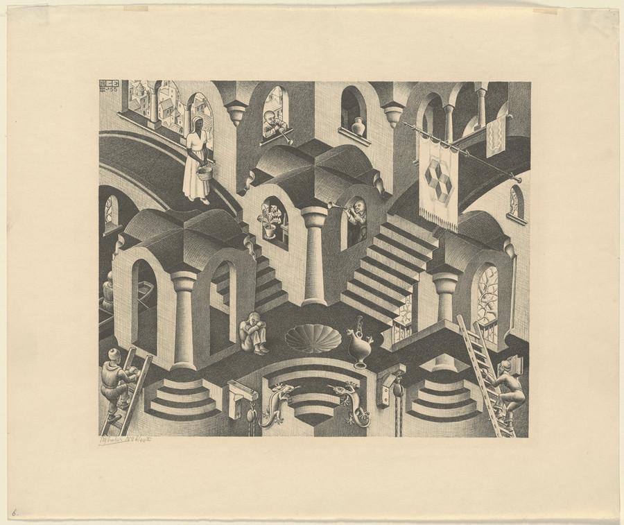 Онлайн-архив: оптические иллюзии и невозможные гравюры Маурица Эшера 2