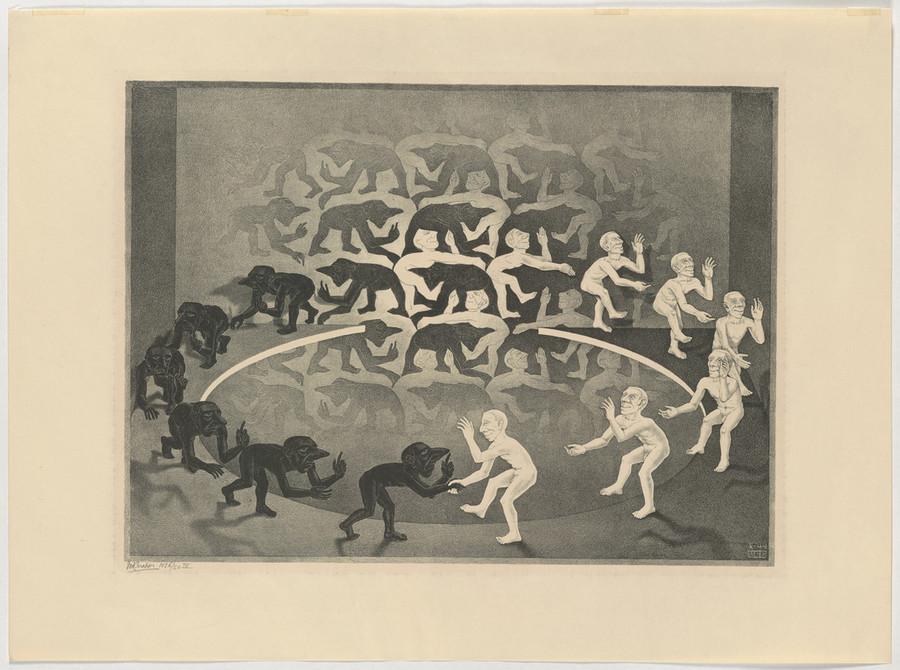Онлайн-архив: оптические иллюзии и невозможные гравюры Маурица Эшера 7