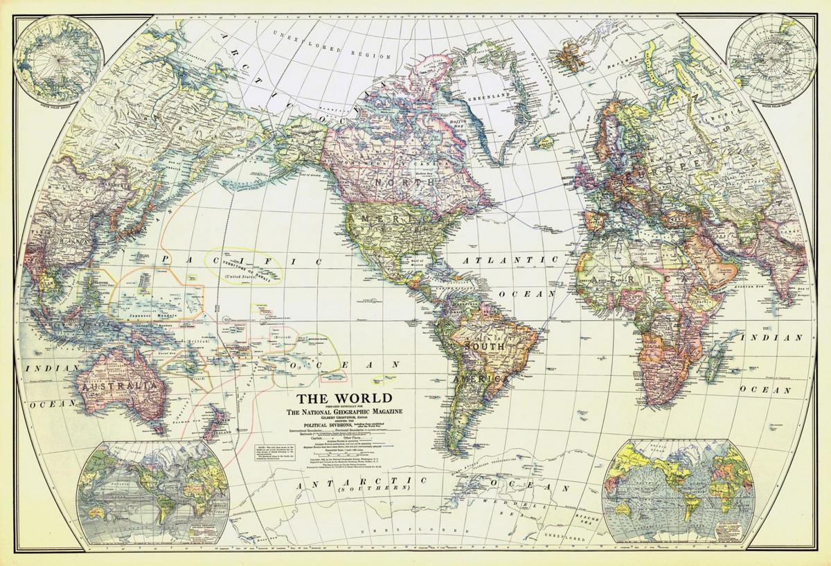 National Geographic оцифровал свою коллекцию карт за 130 лет. От карт звёзд до океанского дна  6