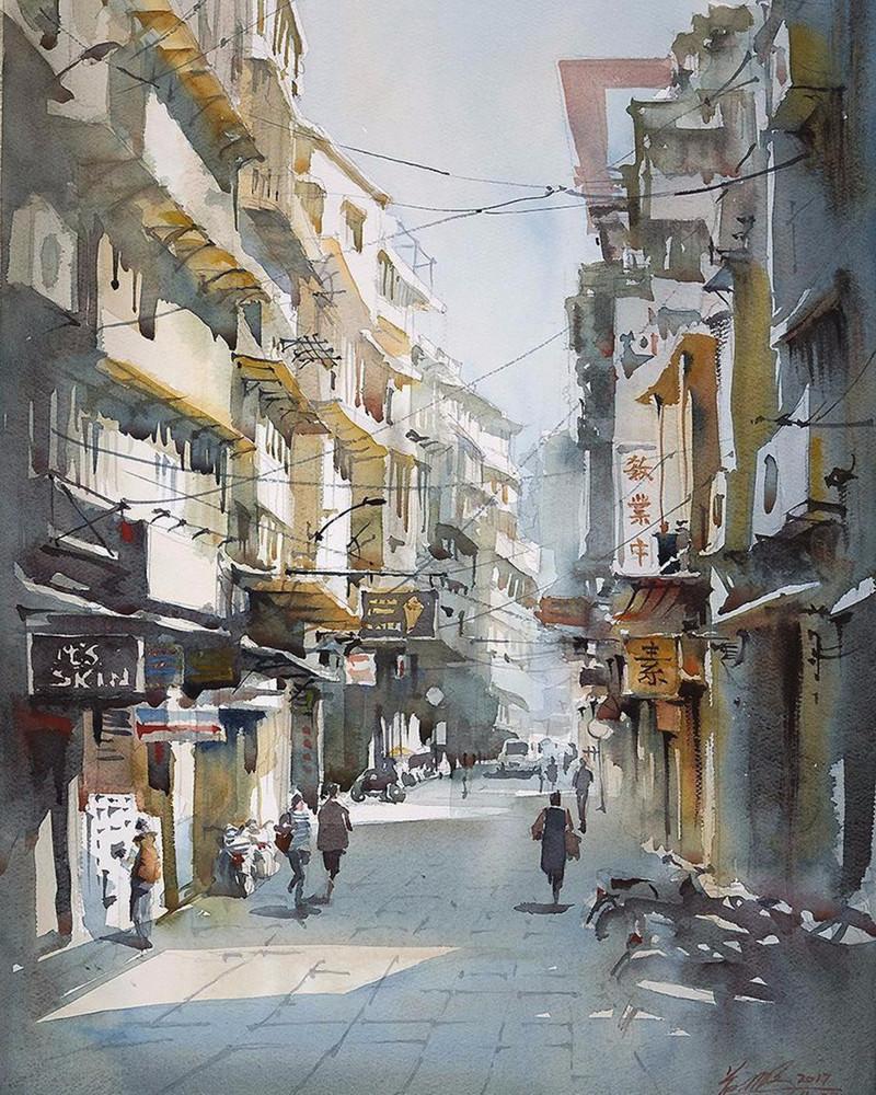 goroda-v-akvarelnyh-kartinah-hudozhnika-Kvan-Yyuk-Pang 29