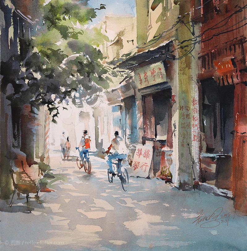 goroda-v-akvarelnyh-kartinah-hudozhnika-Kvan-Yyuk-Pang 32