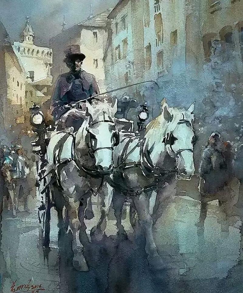 goroda-v-akvarelnyh-kartinah-hudozhnika-Kvan-Yyuk-Pang 38