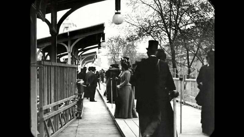 Синематограф братьев Люмьер. Променад по Парижу конца XIX века6