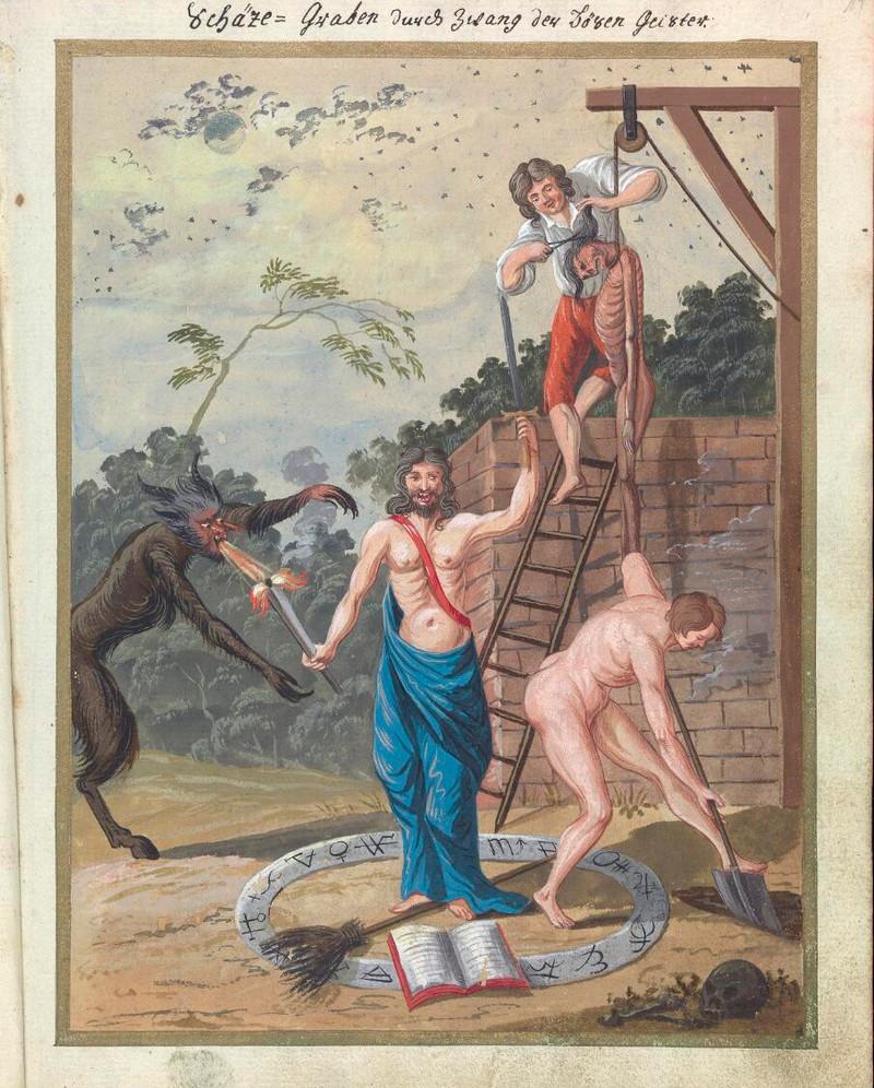 Сборник по демонологии и магическому искусству 18 века – редкая книга в свободном доступе 11