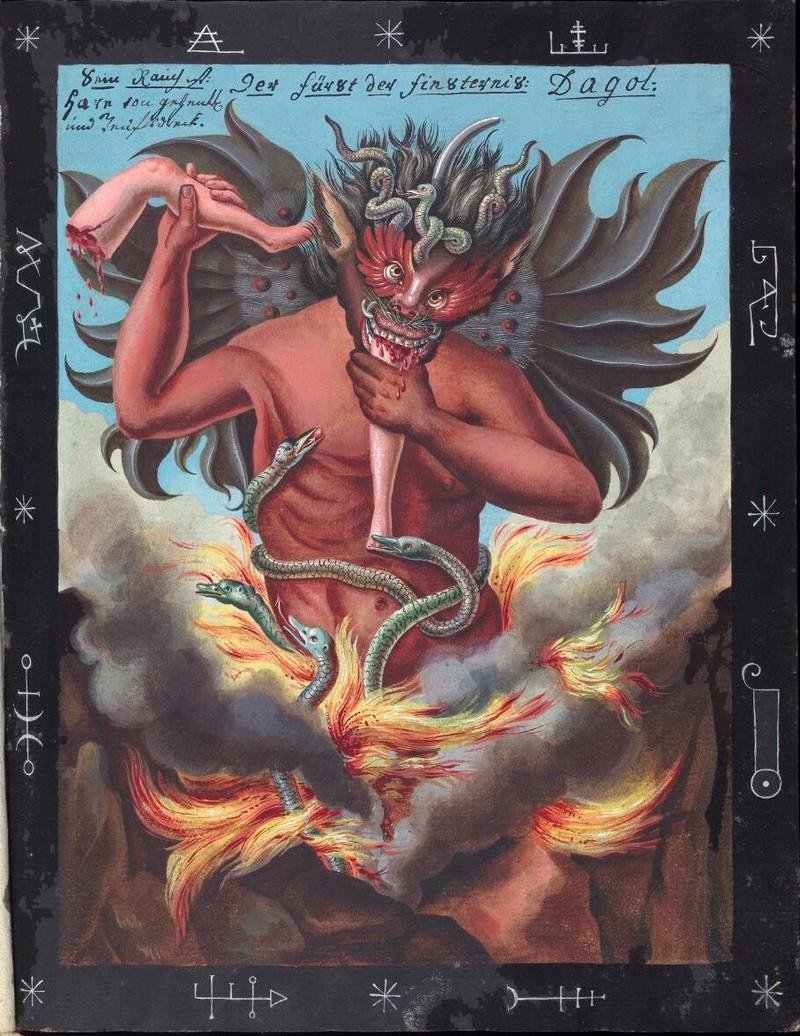 Сборник по демонологии и магическому искусству 18 века – редкая книга в свободном доступе 16
