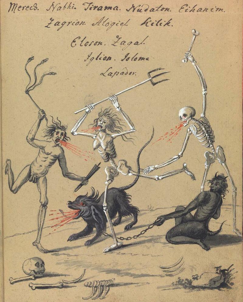 Сборник по демонологии и магическому искусству 18 века – редкая книга в свободном доступе 9