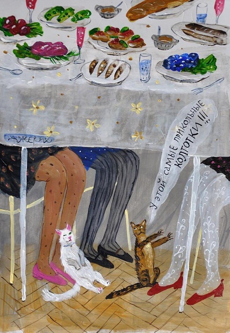 Картины Анжелы Джерих: добрая ирония в советском духе  1