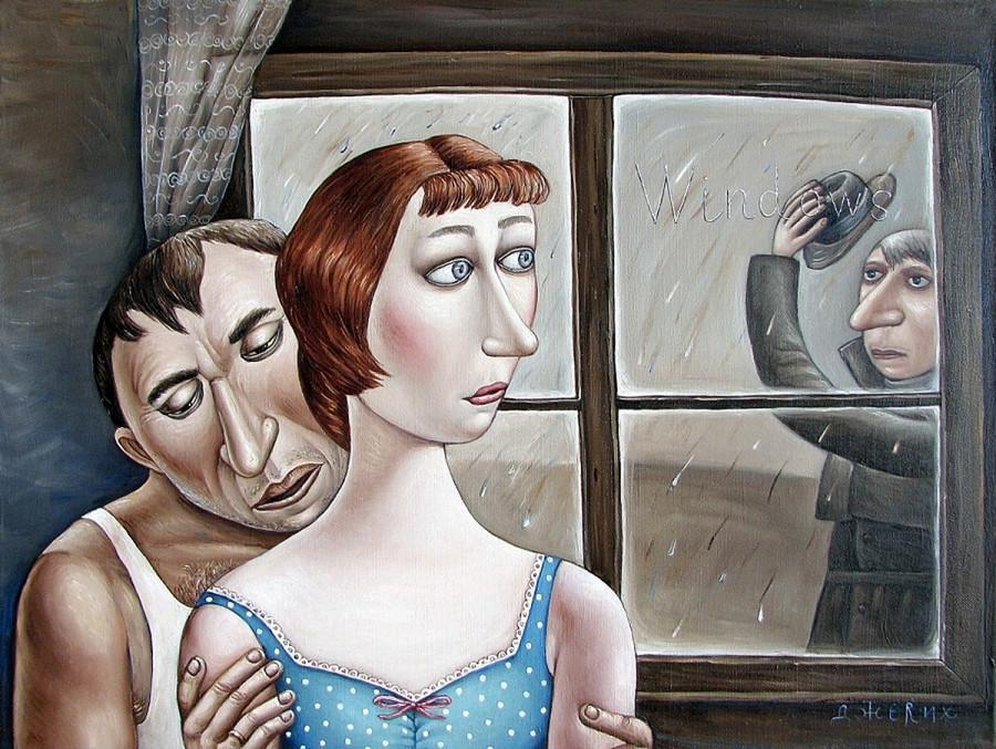 Картины Анжелы Джерих: добрая ирония в советском духе  13