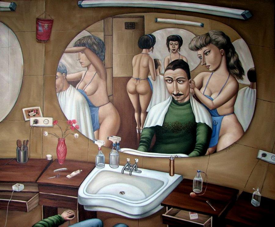 Картины Анжелы Джерих: добрая ирония в советском духе  26