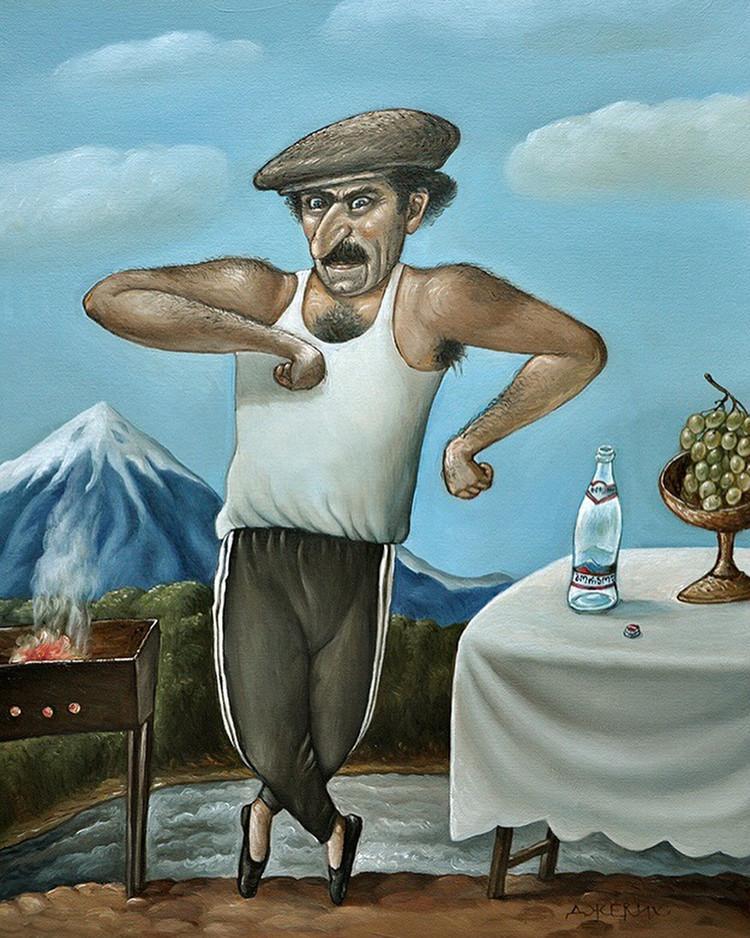 Картины Анжелы Джерих: добрая ирония в советском духе  30