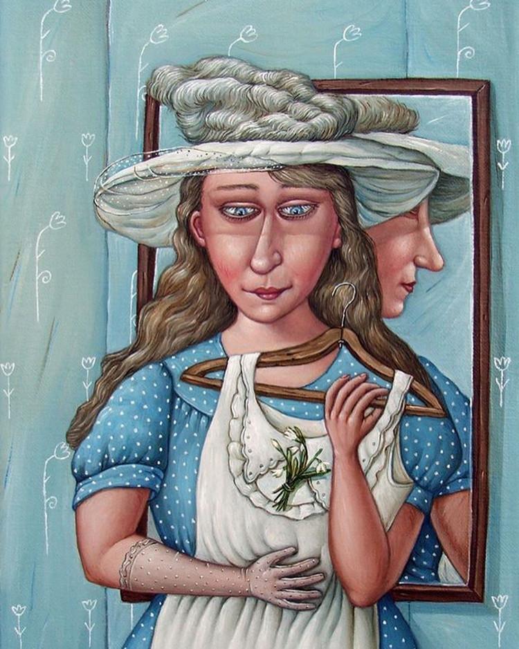 Картины Анжелы Джерих: добрая ирония в советском духе  44