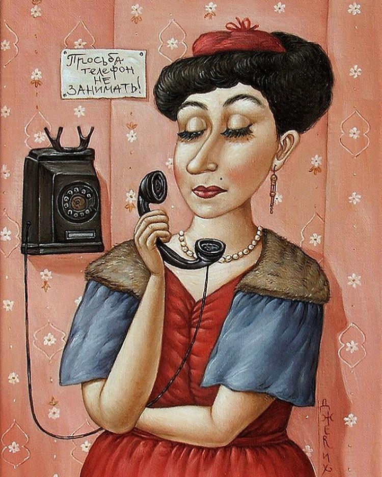Картины Анжелы Джерих: добрая ирония в советском духе  45
