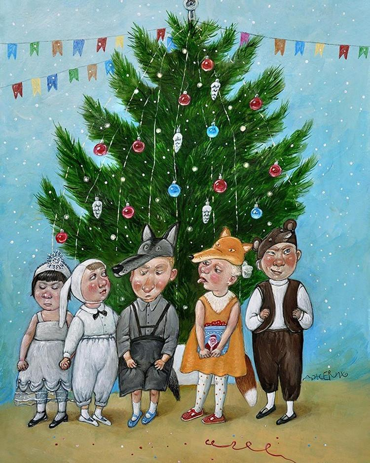 Картины Анжелы Джерих: добрая ирония в советском духе  5