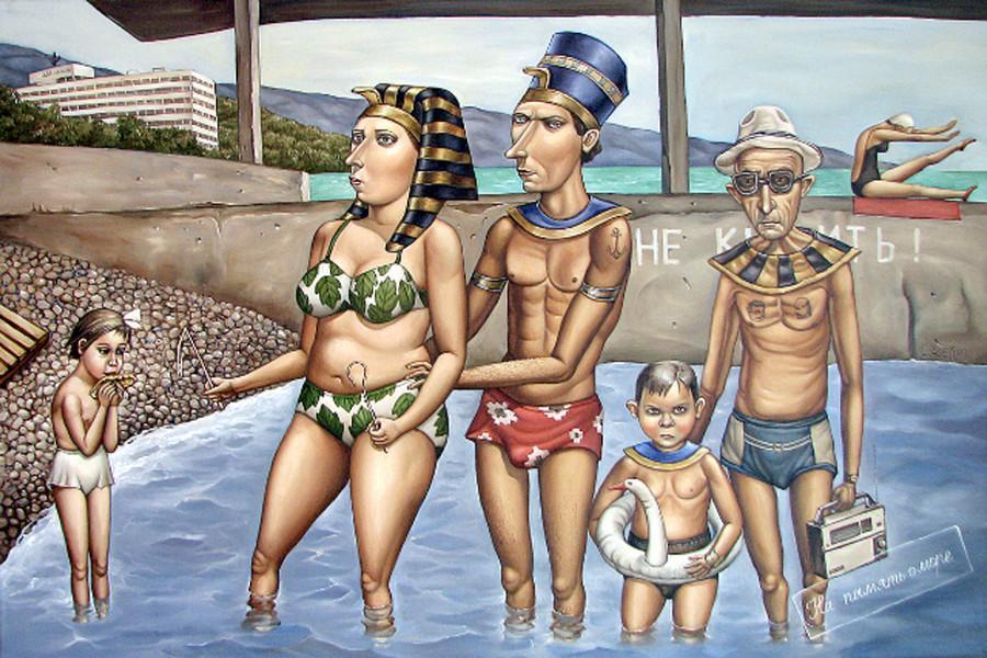 Картины Анжелы Джерих: добрая ирония в советском духе  51