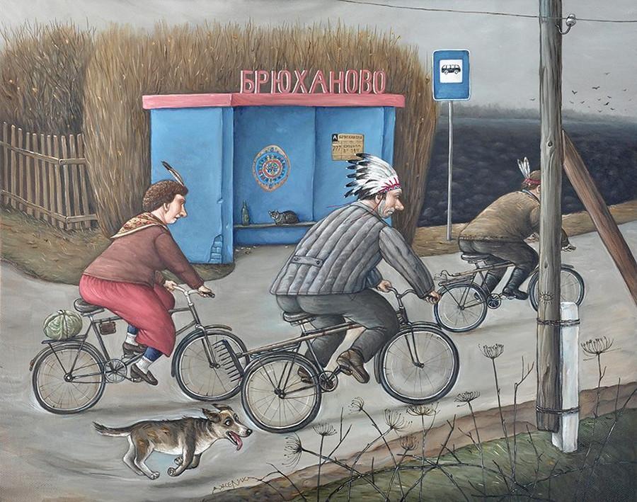 Картины Анжелы Джерих: добрая ирония в советском духе  66