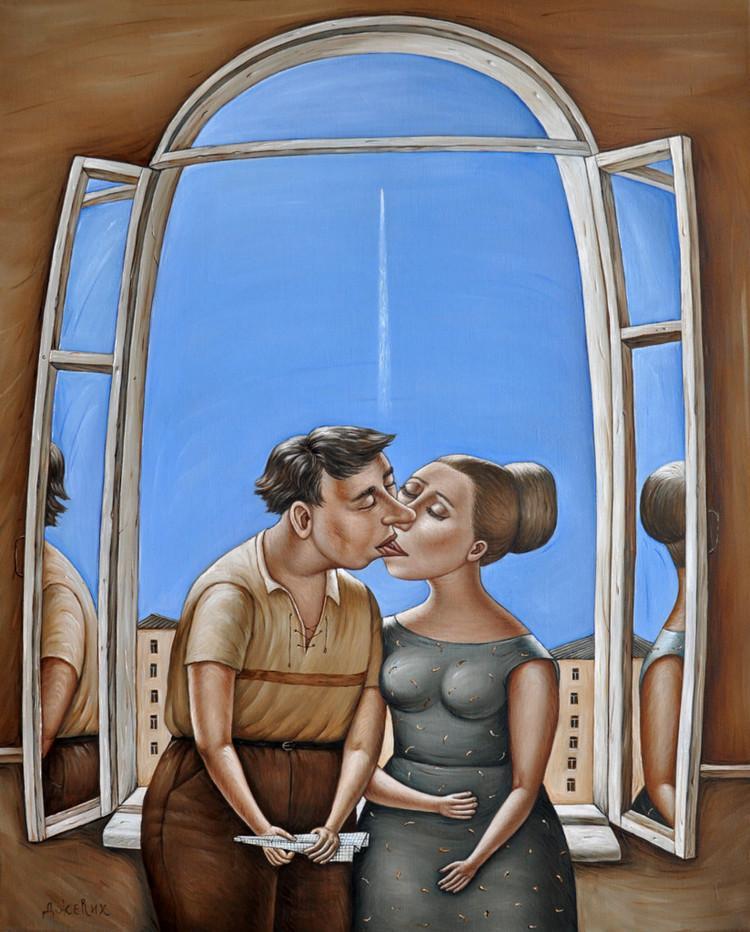Картины Анжелы Джерих: добрая ирония в советском духе  9