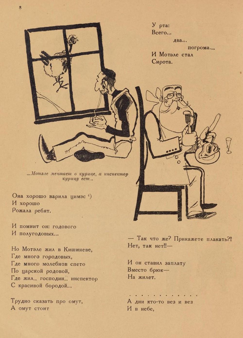 «Повесть о рыжем Мотэле, господине инспекторе, раввине Иссайе и комиссаре Блох» (1926 год) 6
