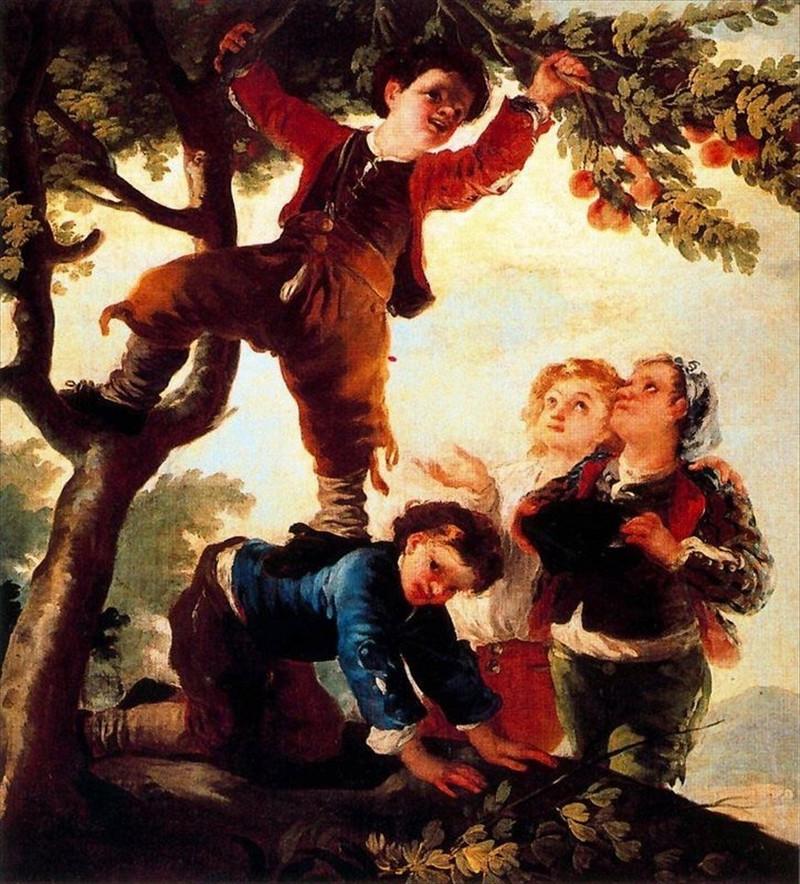 Les garçons ramassent des fruits, 1778