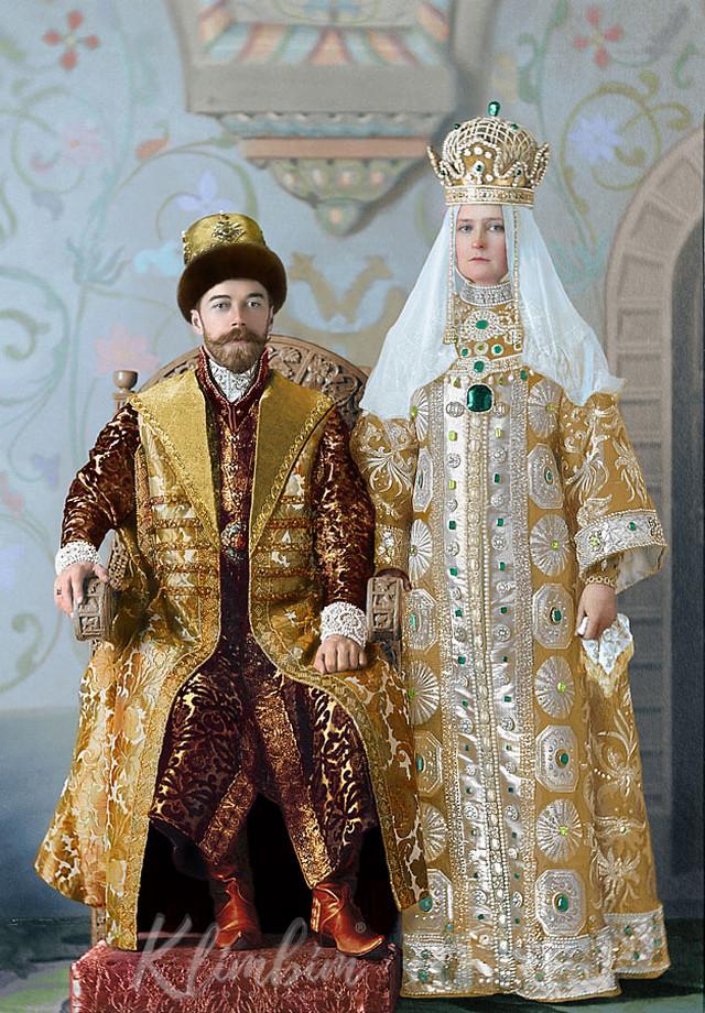 Великолепие костюмированного бала Романовых в раскрашенных фотографиях 1903 года 7
